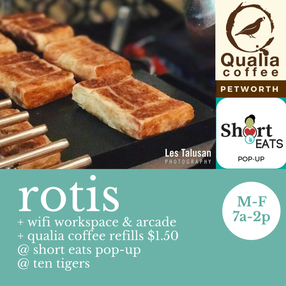 Rotis, Refills & Wifi @ Short Eats Pop-Up for Qualia-Petworth Customers Fall 2017