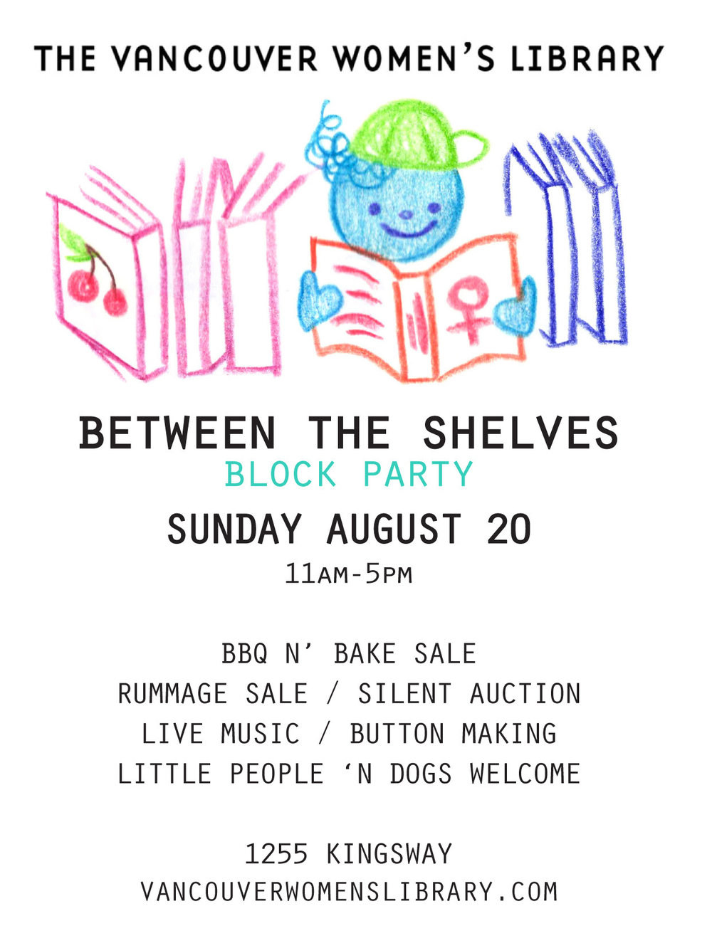Block Party - One of our many talented volunteers JJ designed some adorable flyers for the Block Party!! Keep an eye out to bid on Jenny's adorable stick & poke tattoo donation up for silent auction!
