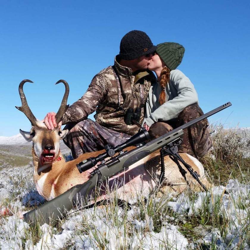 Morning Pronghorn in the snow