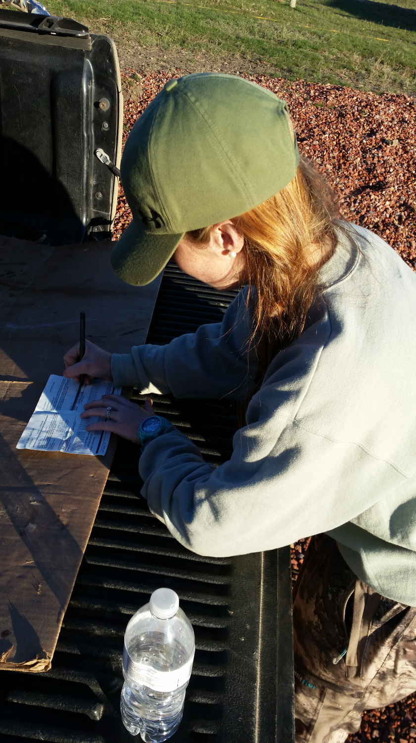 This is me filling out my Wyoming antelope tag…another check off the bucket list!