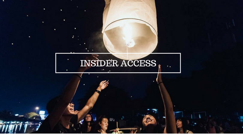 Access To Local Insider Experience  - Available in U.S and China.  Thailand, Taiwan, Tibet are coming soon!