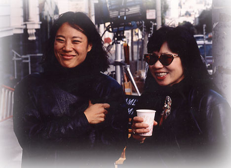 With Amy Tam on set of Joy Luck Club.jpg