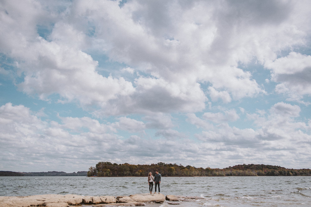Nashville Engagement Pictures at Percy Priest Lake
