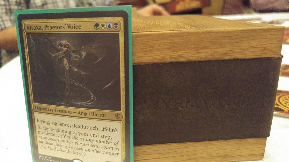 Atraxa's new Wyrmwood deck box :) White Oak is so pretty!