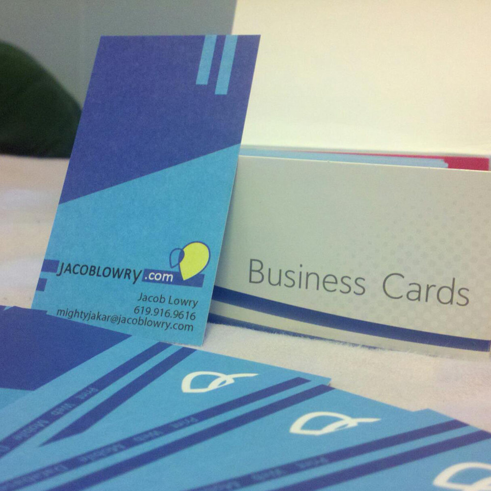 Jacob Lowry   Business card design. Front + back full color.