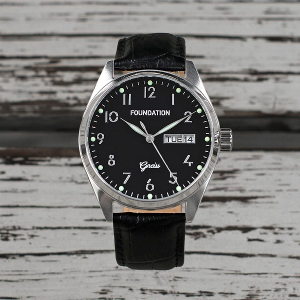 Foundation Watches: Gneiss in Onyx on Black