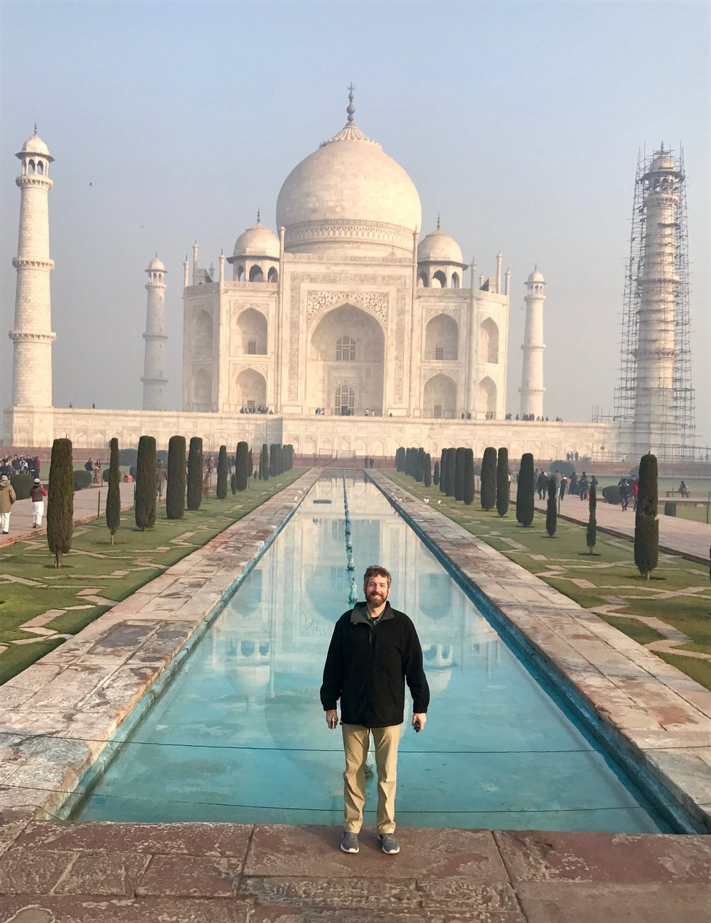 Michael at the Taj Mahal in Agra, India (2017)