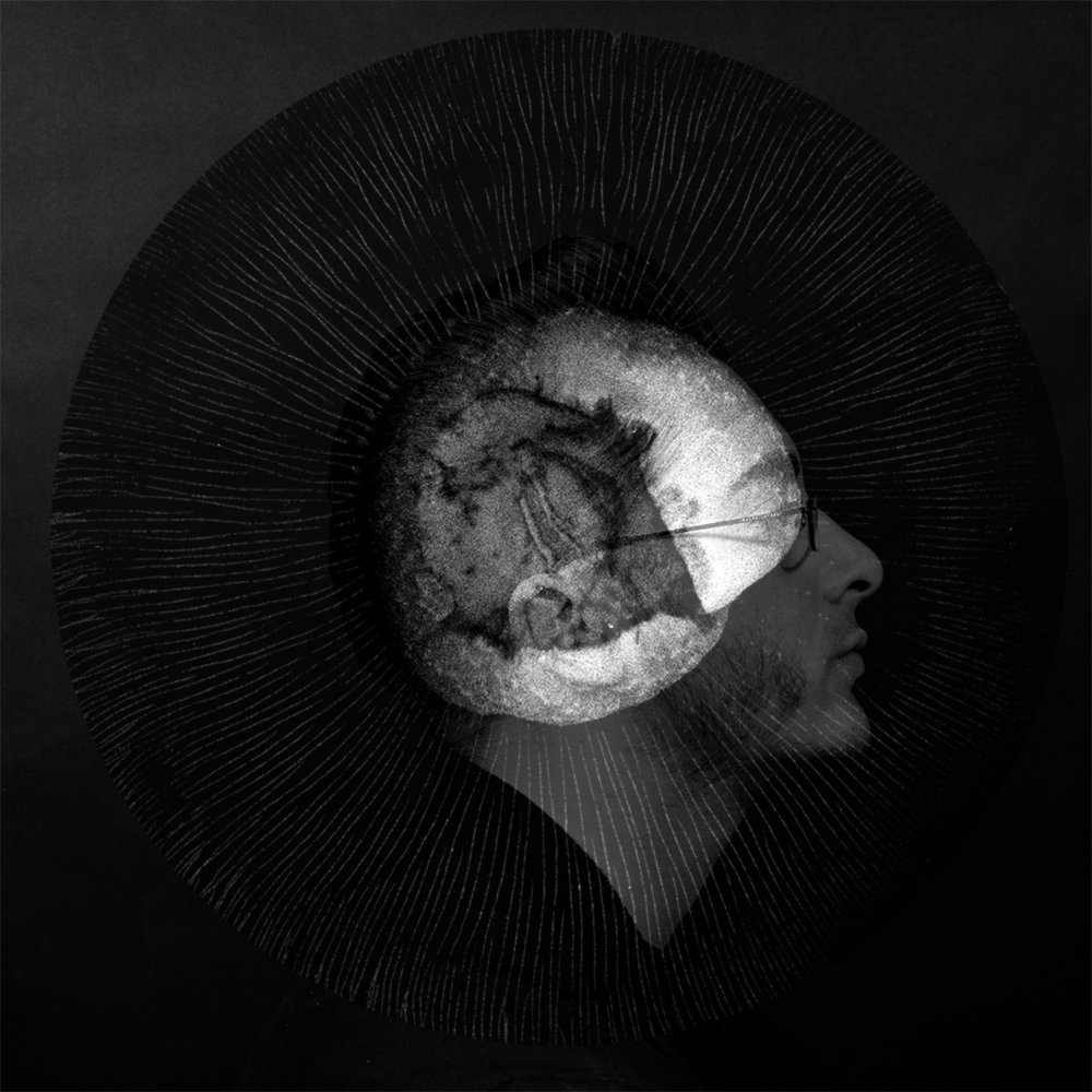 Charles and the Giant Mushroom No. 4 · 120mm film collage · Pigment Print