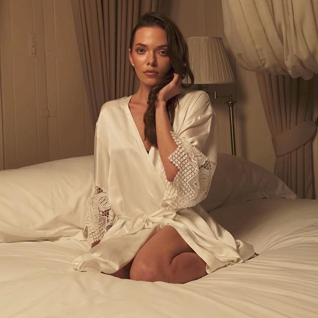 ❤️Valentine's Day Special❤️ • Buy once, cherish forvever • Pure silk robes on sale now for $199 • www.stitch-lane.com •