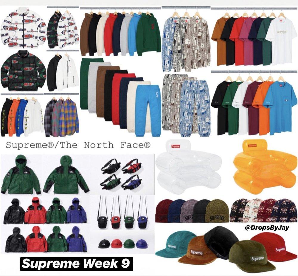 717525d9d322 SUPREME WEEK 9 DROP F W 18 (10 18 18) — Sneaker Spots