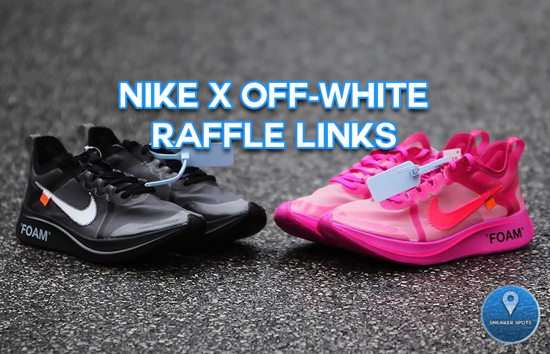 NIKE X OFF-WHITE ZOOM FLY RAFFLE LINKS