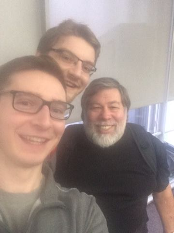 Josh and I with Apple's Co-founder Steve Wozniak, aka 'The Woz'.