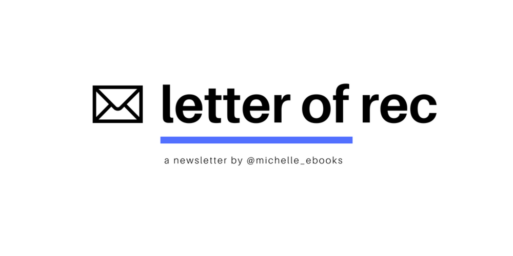 """previously very cleverly named """" things i send/recommend to my friends, but all together: a newsletter """" lol"""