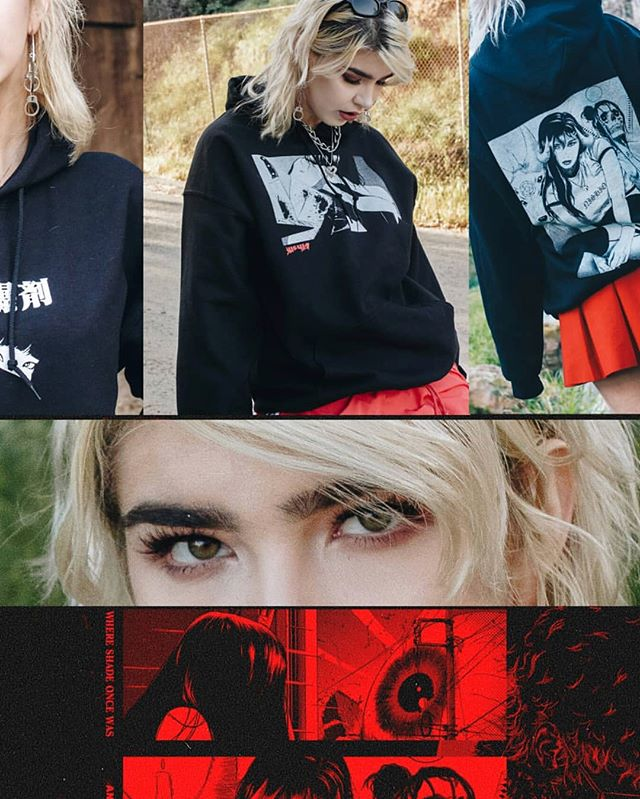 In love with these shots for @nishio__'s latest clothing drop. Thanks @dieyoucuck for being my model 😍😍😍