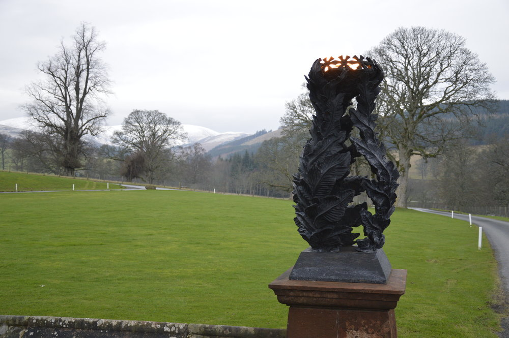 How Do We Do It? Stobo Castle Exterior and Flambeaux