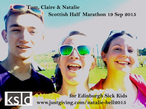 Claire & Natalie Raise £285 for Edinburgh Sick Kids