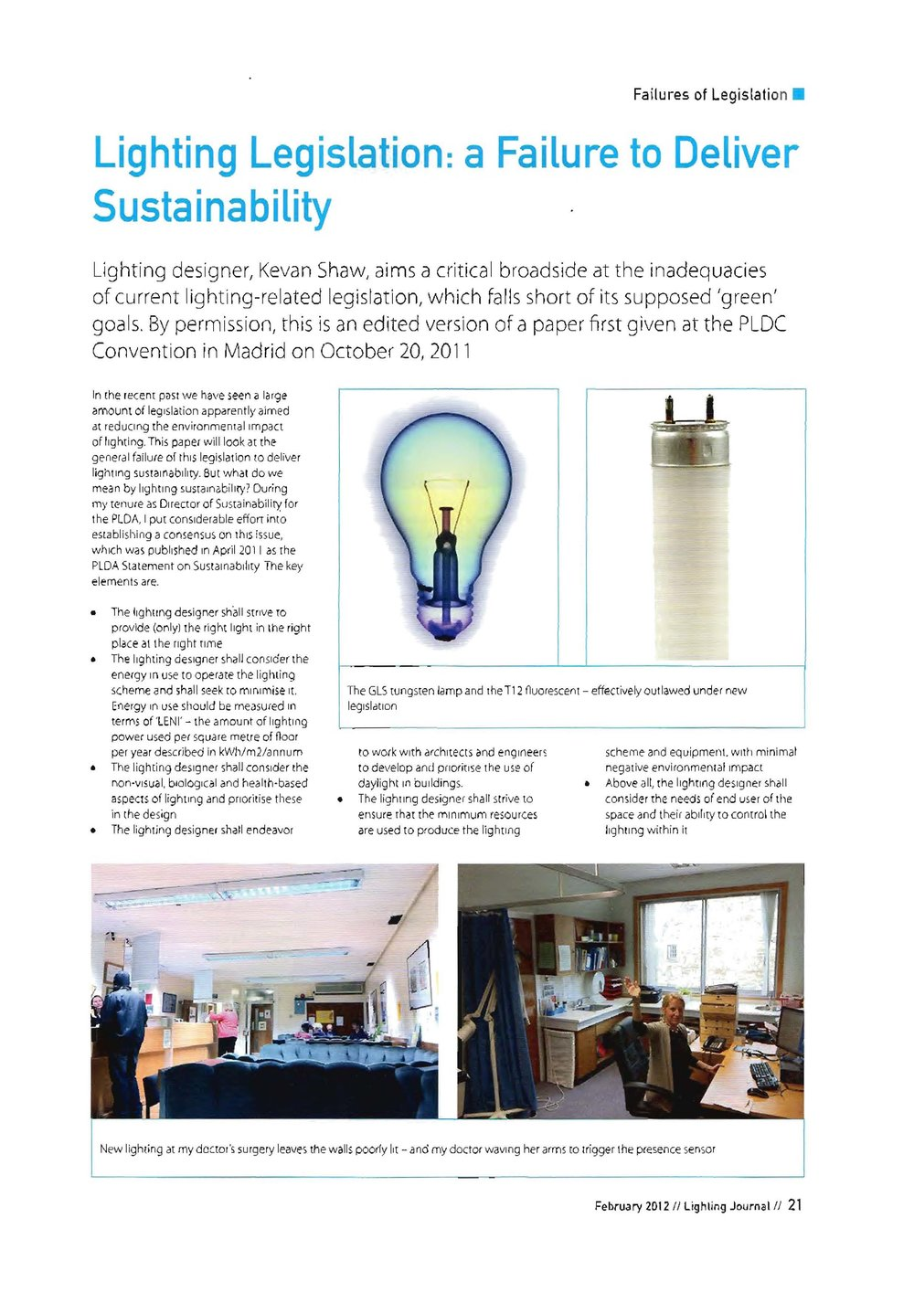 Lighting Legislation: A Failure to Deliver Sustainability