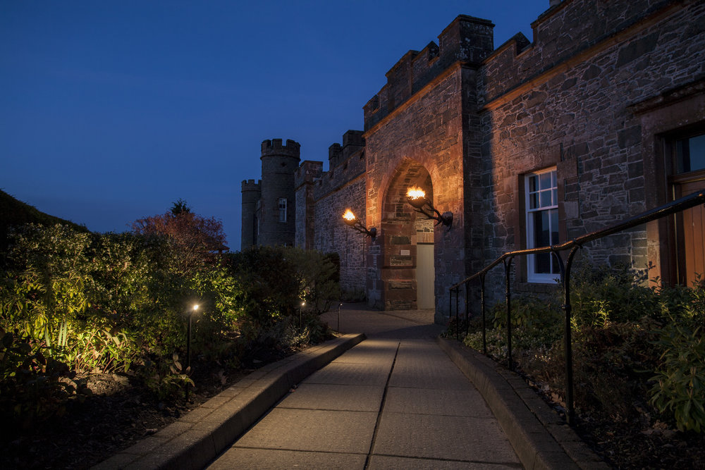KSLD Was Chosen To Update The Exterior Lighting At Stobo Castle Hotel Spa Near Peebles Scotland Led By Former Senior Designer Claire Hope