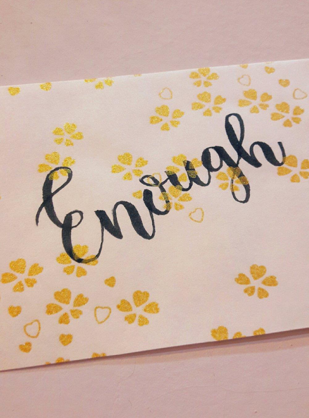 Lettering by Erike Winanda