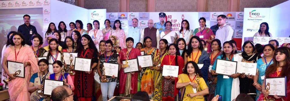 Ficci Flo UP women awards on April 29th 2017 - Founder SHIVI KAPIL as winner with other winners in various categories.