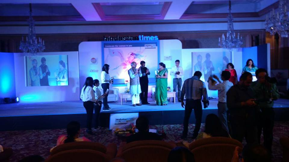 HT Awards 2017 - Healthcare minister Mr. Siddharth Nath Singh SHIVI 's mother received the award on her behalf.
