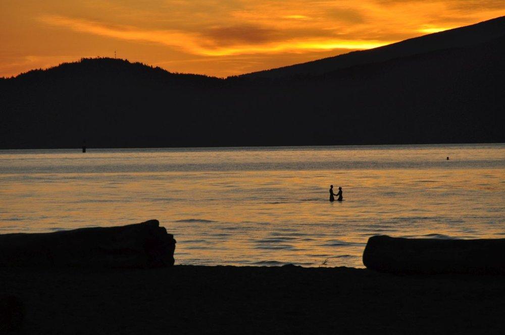 Abendstimmung in Vancouver...British Columbia / Kanada...Mai 2016