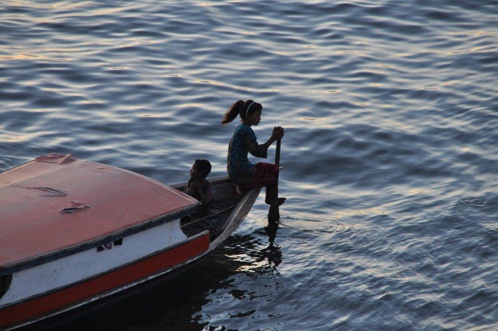 Eine Bajau Familie in der Bucht von Semporna, Borneo/Malaysia...Mai 2015