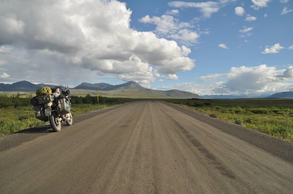 Unterwegs auf dem Dempster Highway in Yukon/Kanada...Juni 2016