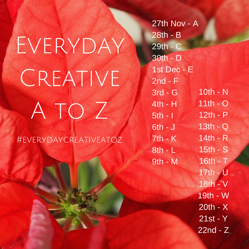 Everyday Creative A to Z Instagram Challenge Prompts
