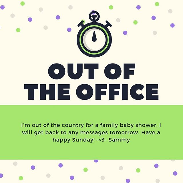 Hi fabulous followers! I will be out of the country this afternoon for a family baby shower and will be unable to answer messages until tomorrow. Have a good Sunday, I'll be sure to post pictures if I get any.