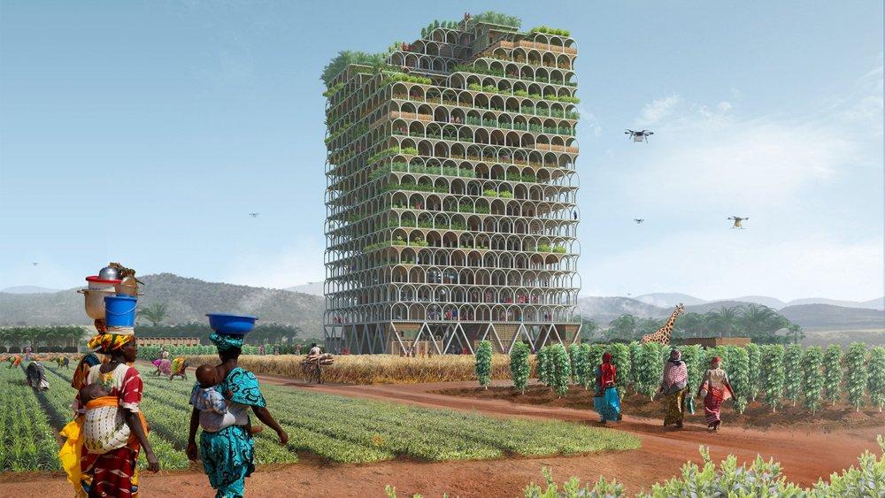 The Mashambas Skyscraper Project by Pawel Lipinski and Mateusz Frankowski.