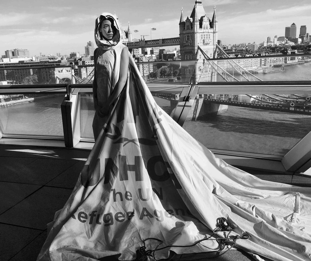 Dress For Our Time at The London Peace Talks. Picture: Helen Storey.
