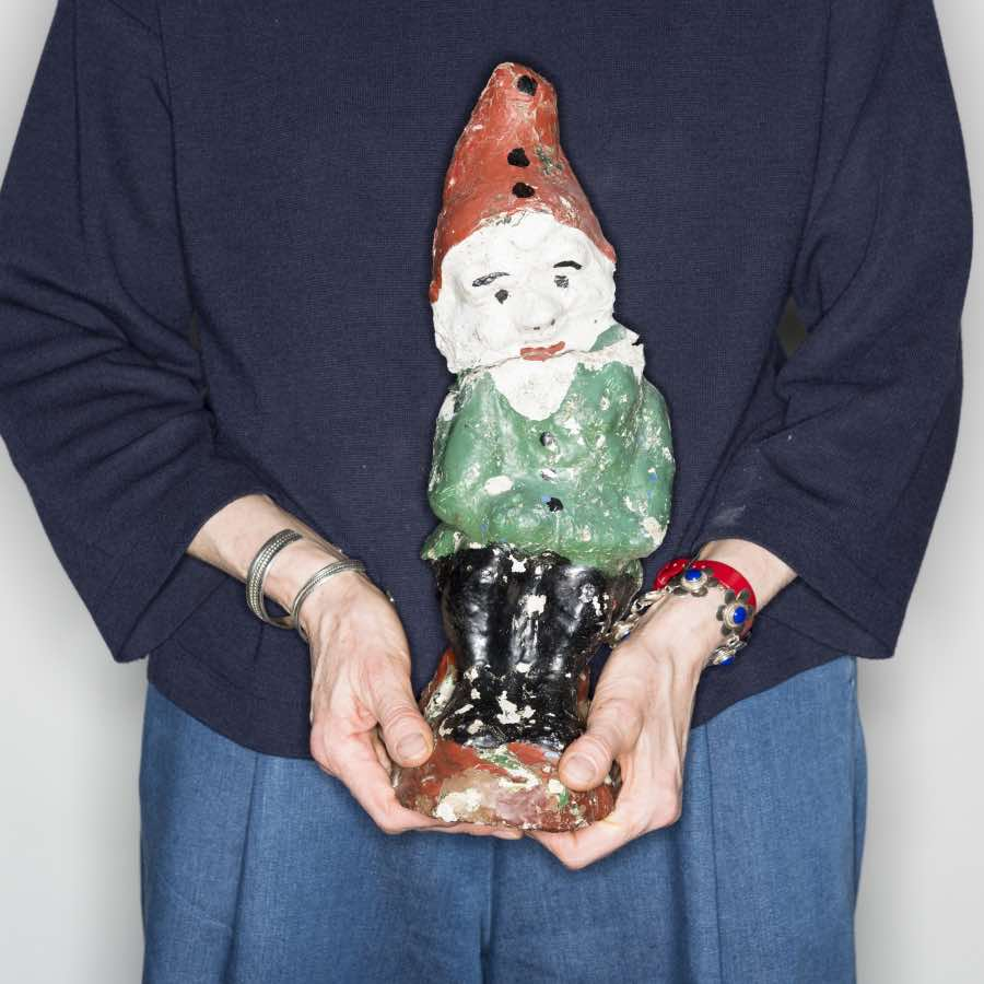 "Garden gnome, Julie Carr: ""When I picked the gnome, I did it somewhat ironically. But in reality, it has contributed significantly to my love of nature as an adult. If those odd little fellows hadn't drawn me outside while the grown-ups talked inside, my life would certainly have been a poorer one."" Picture: Wellcome Collection."
