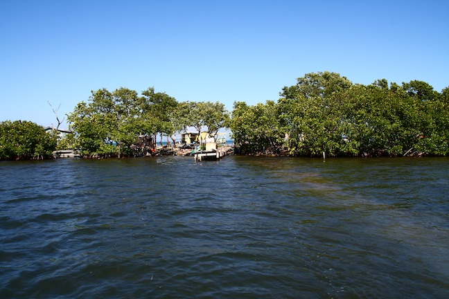 - Gerald McDougall's island off Belize is built on a pile of garbage. Picture: Nick Pattinson.