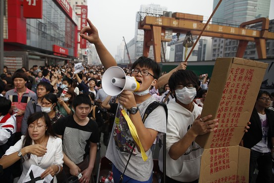 Environmental protests in China are working. Picture: Wall Street Journal. -