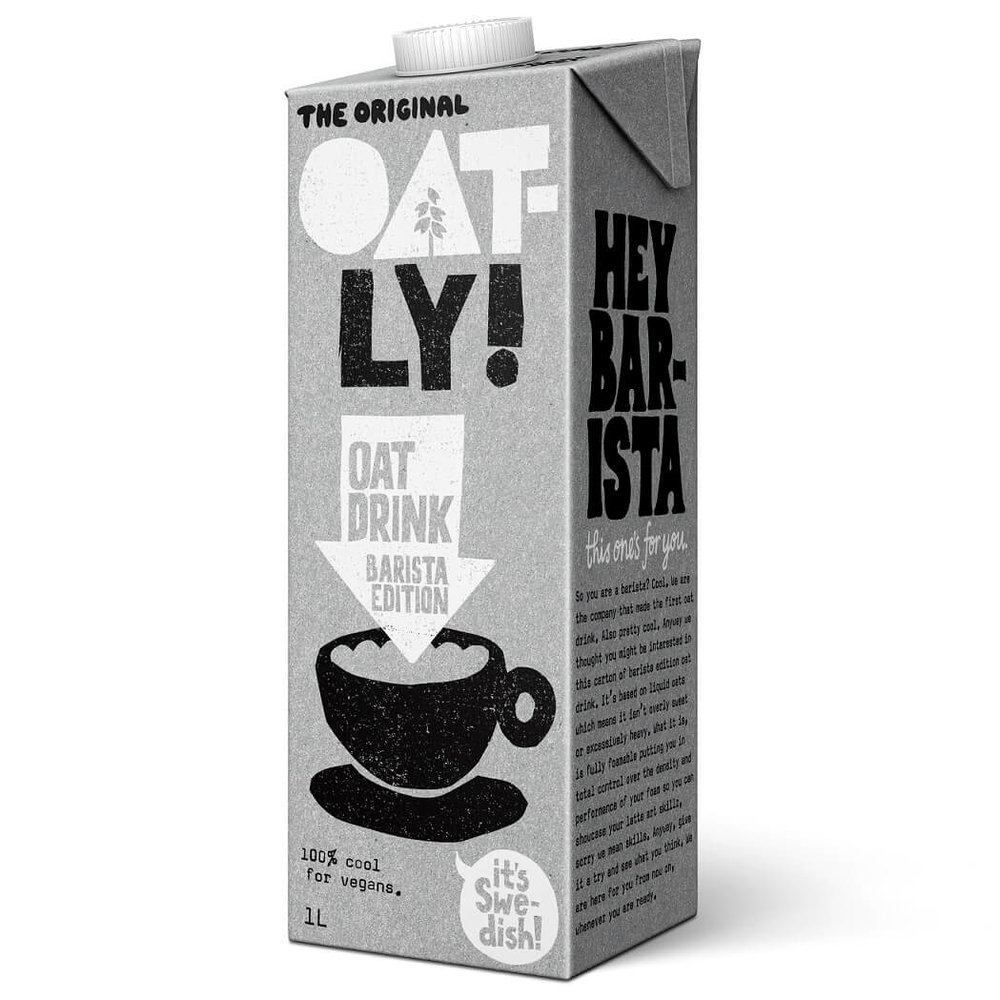BEST DAIRY-FREE MILK - Oatly Oat Drink Barista EditionIt's fully foamable, so perfect for a frothy latte but equally delicious in tea, on cereal, or just straight out of the carton.