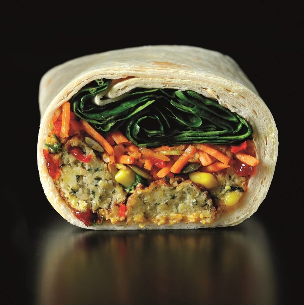 BEST VEGAN SANDWICH - Starbucks Kale, Jalapeño, and Slaw WrapCoffee giant Starbucks has come up with a tasty vegan lunch option – this tortilla wrap filled with crushed corn, kale, and jalapeño bites mixed with a raw slaw, spinach, and a hot chilli jam.