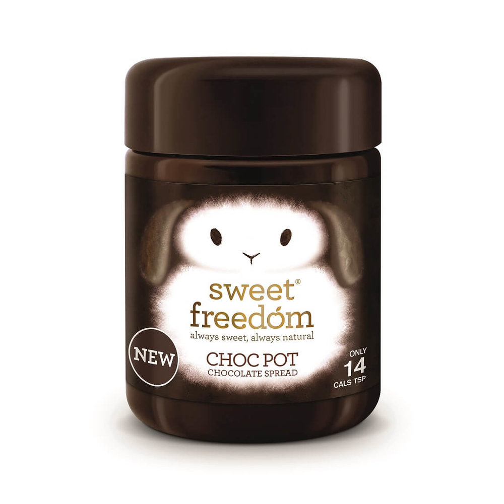 BEST VEGAN CHOCOLATE - Sweet Freedom Choc Pot Chocolate SpreadThis magical dairy-free chocolate pot has 75 per cent less fat and half the calories of Nutella.