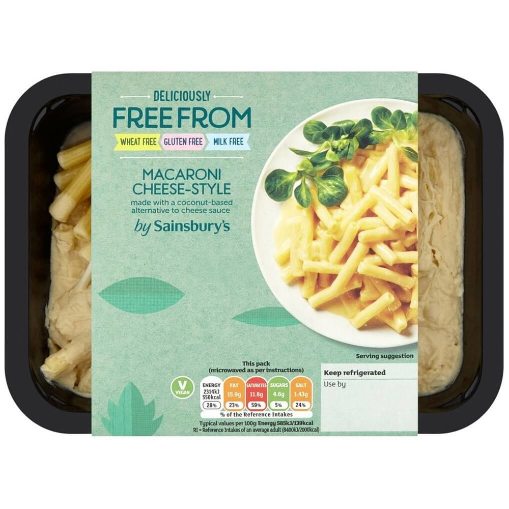 BEST VEGAN READY MEAL - Sainsbury's Deliciously Freefrom Macaroni CheeseCheesy, creamy pasta that's ready in an instant – we're loving this microwavable comfort-food option from Sainsbury's