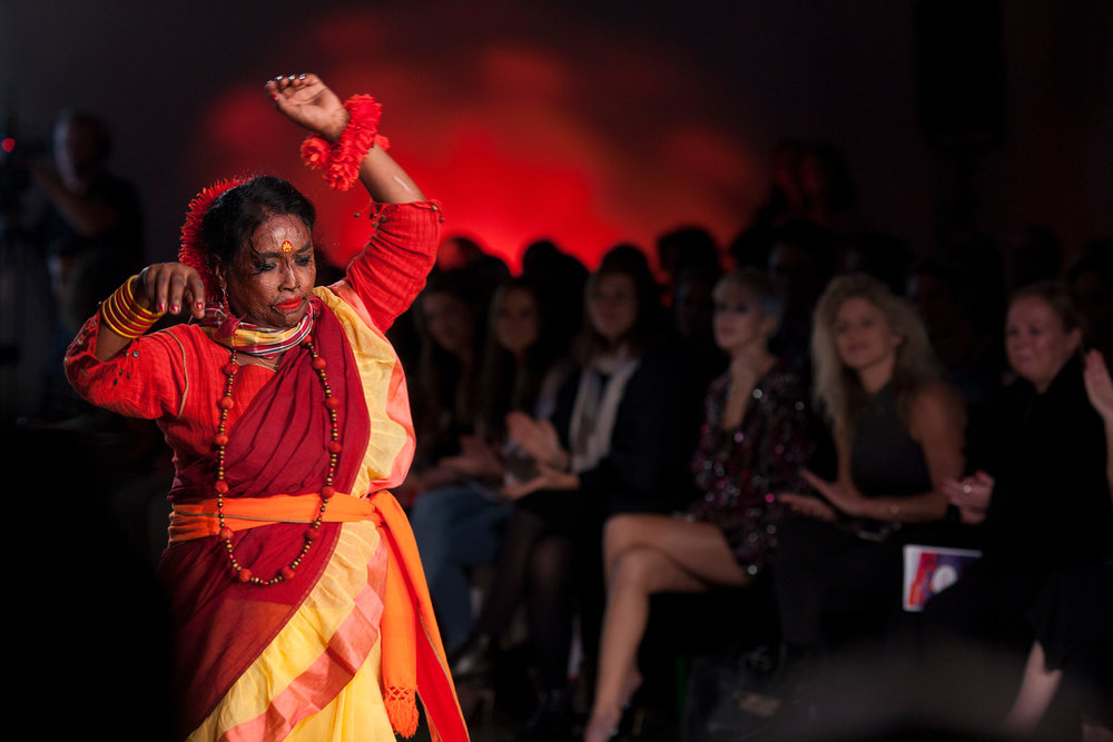 There is a moment when Ganga starts dancing. Survivors Runway. Picture: ActionAid.