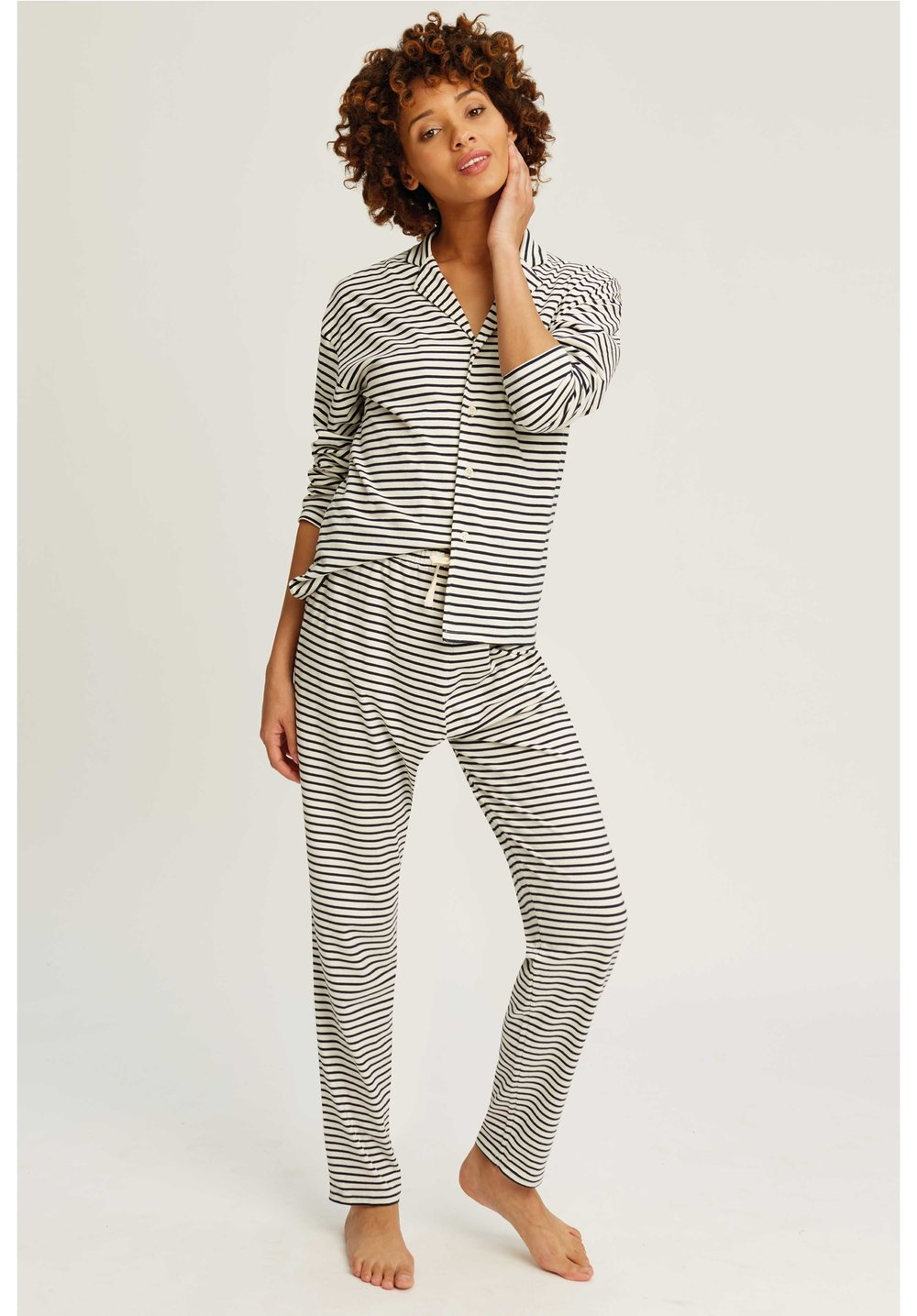 Organic cotton - Fair-trade pioneer People Tree goes from strength to strength. These striped print PJ's, £74, are perfect for lounging or sleeping.www.peopletree.co.uk