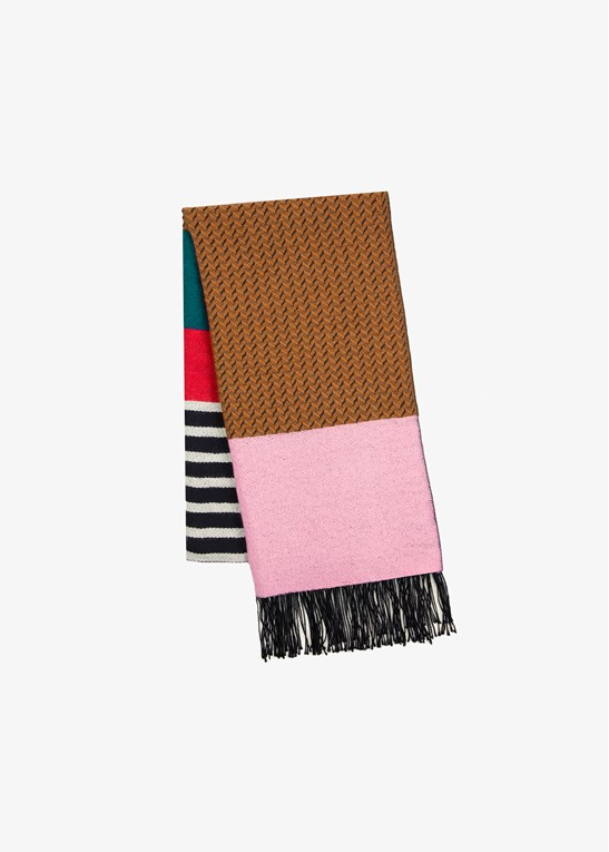 Handwoven in Peru - A PEACE TREATY travels to a particular region each season and sets up projects with local village artisans, which help define and modernize ancient handmade textile and metalsmithing techniques. The Mihara Cobalt Scarf, £250, is a stunning piece of craftsmanship, handwoven in Peru from from 100% baby alpaca. www.gatherandsee.com