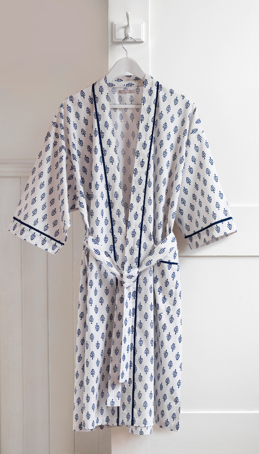 Fair trade - The Natural Collection has supported sustainable production, ethical innovation and green ideas since 1999. The Anju dressing gown, £35, is hand block printed.www.naturalcollection.com