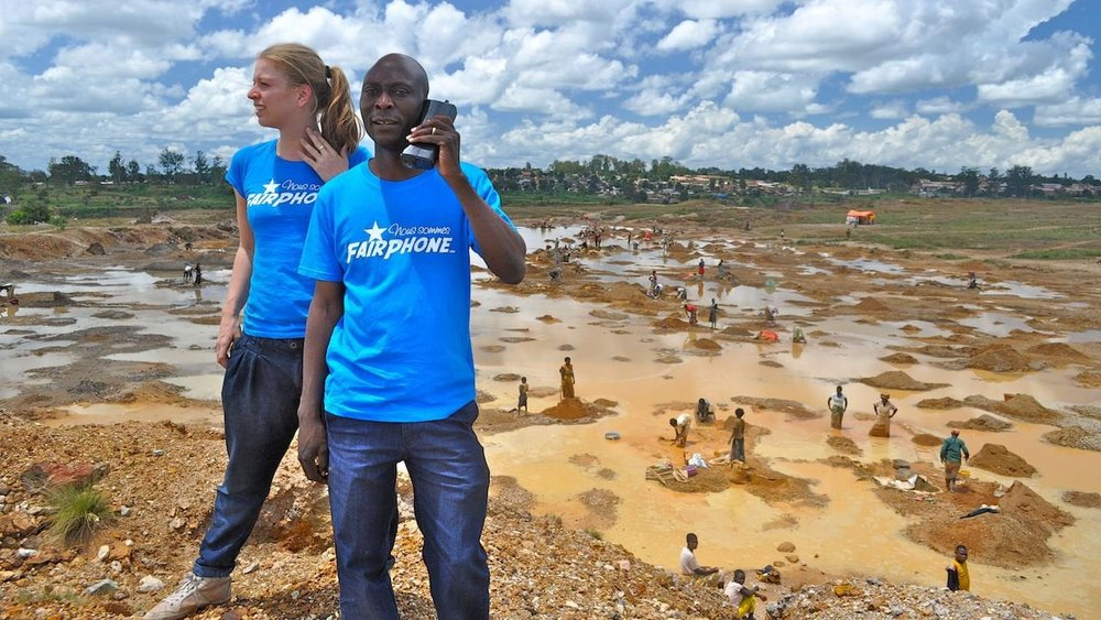Fairphone staff on a fact-finding mission to DRC in 2011. Picture: Fairphone.