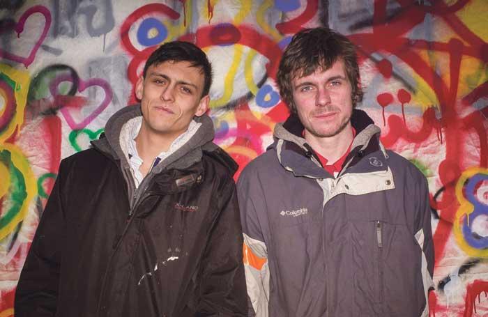 Joe Robertson and Joe Murphy of Good Chance Theatre. Photo: Sarah Lee.