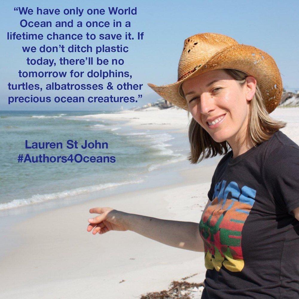 Lauren St John for Authors4Oceans