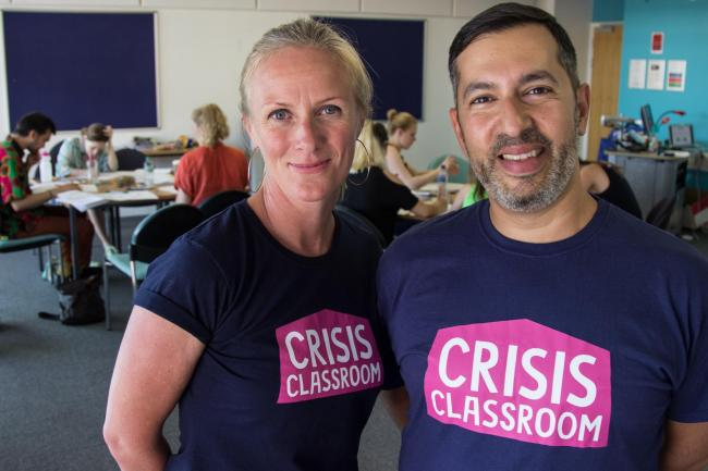 Kate McAllister and Darren Abrahams, co-founders of Crisis Classroom.