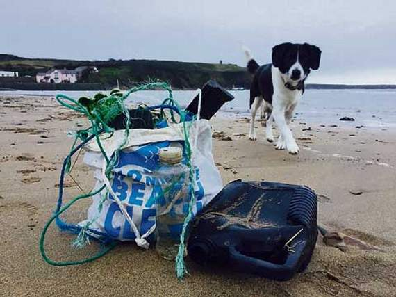 The campaign encourages beachgoers to clean up beaches they visit.