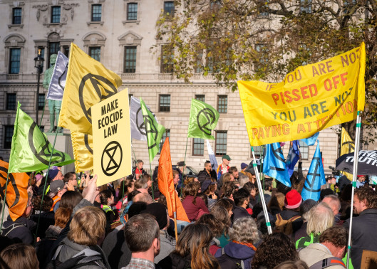 """Thirty three years, I have waited for this,"""" said George Monbiot at the movement's launch on October 27."""