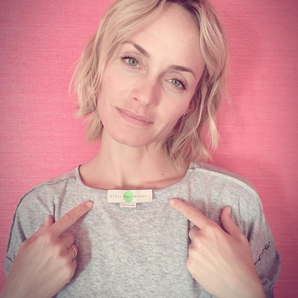 Model Amber Valletta asks: Who Made My Clothes? Picture: Fashion Revolution.